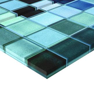 El arte de cristal del mosaico del Aquamarine del  Impresion En Lona