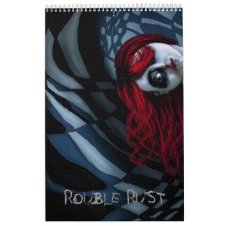 El arte de Digitaces del MOHO de la RUBLO Calendario De Pared
