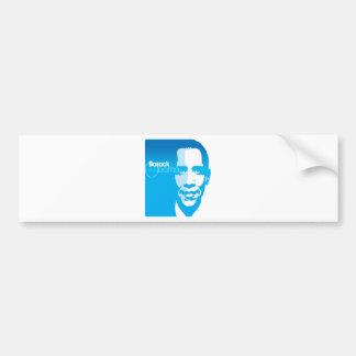 El arte de encargo fresco de Barack Obama remezcla Etiqueta De Parachoque