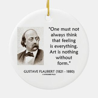 El arte de Gustave Flaubert no es nada sin cita de Adorno Redondo De Cerámica