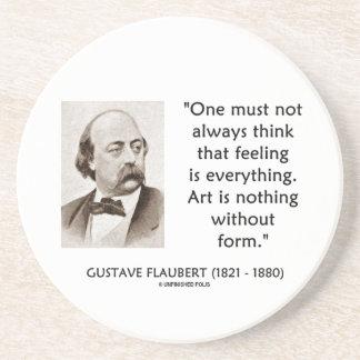 El arte de Gustave Flaubert no es nada sin cita de Posavasos Para Bebidas