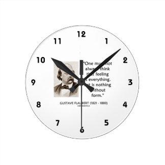 El arte de Gustave Flaubert no es nada sin cita de Reloj Redondo Mediano
