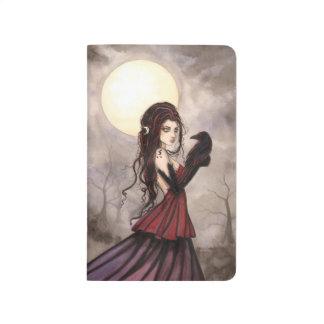 El arte de hadas de la fantasía del cuervo cuadernos grapados