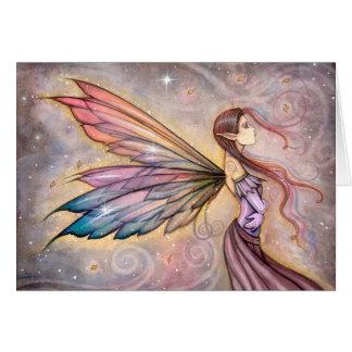 El arte de hadas de la fantasía del vagabundo tarjeta de felicitación