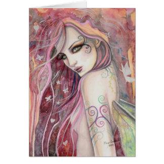 El arte de hadas moderno de la fantasía del ligón tarjeta pequeña