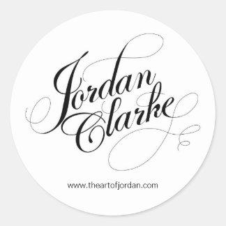 El arte de Jordania Pegatina Redonda