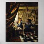 El arte de Juan Vermeer de la pintura circa 1668 Impresiones