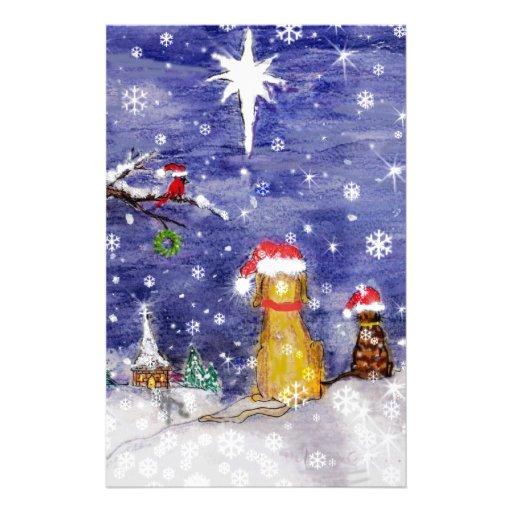 El arte de la acuarela del navidad de los animales papeleria