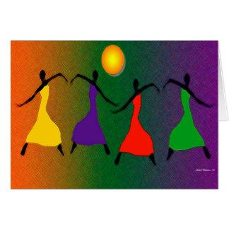 El arte de la danza tarjetón