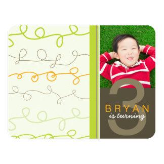 El arte de la diversión garabatea a niños la invitación 10,8 x 13,9 cm