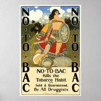El arte de la etiqueta del producto del vintage, póster