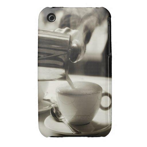 El arte de la fabricación fresca/adición del café  Case-Mate iPhone 3 carcasa