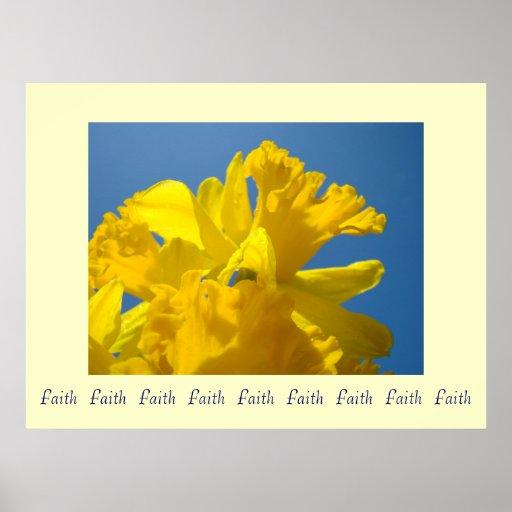 El arte de la fe de la fe de la fe imprime narciso posters