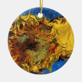 El arte de la flor del vintage de Van Gogh, dos Ornamento De Reyes Magos