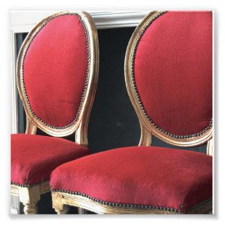 El arte de la foto de las sillas del salón del fotografías