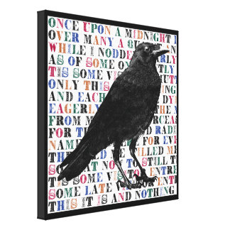 El arte de la lona del poema del cuervo impresiones en lona