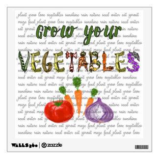 """El arte de la pared """"crece sus verduras """" vinilo"""