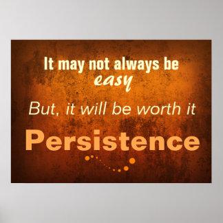 El arte de la persistencia (poster de la sala de