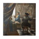 El arte de la pintura de Juan Vermeer Azulejo