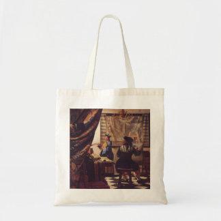 El arte de la pintura de Juan Vermeer Bolsa Tela Barata