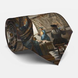 El arte de la pintura de Juan Vermeer Corbata Personalizada