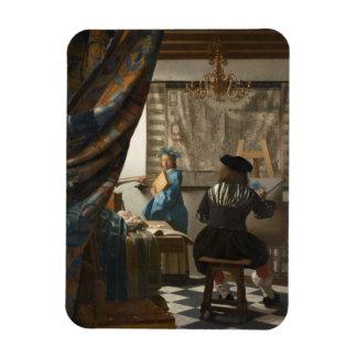 El arte de la pintura de Juan Vermeer Imanes De Vinilo