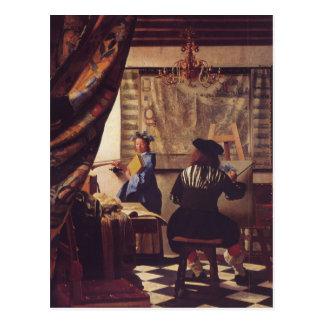 El arte de la pintura de Juan Vermeer Postal
