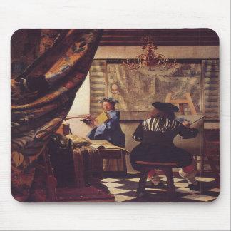 El arte de la pintura de Juan Vermeer Alfombrilla De Ratones