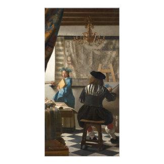 El arte de la pintura de Juan Vermeer Tarjetas Personales