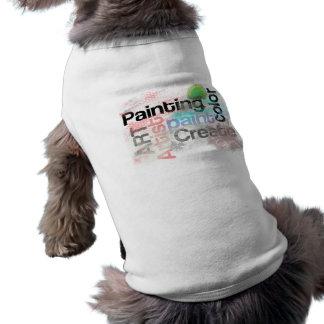 El arte de la pintura de la tipografía crea palabr camiseta de mascota