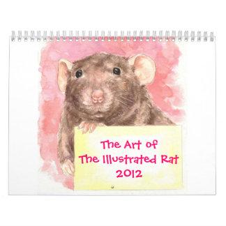 El arte de la rata ilustrada 2012 calendario