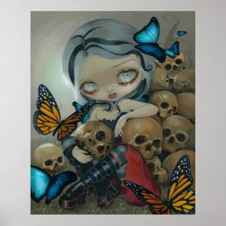 El ARTE de las mariposas y de los huesos IMPRIME a Posters