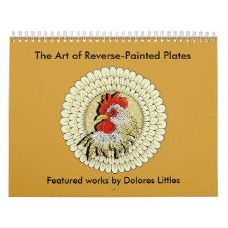 El arte de las placas pintadas revés - modificadas calendario