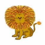 El arte de los niños del león del dibujo animado esculturas fotograficas