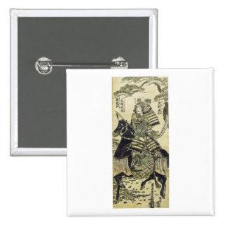 El arte de Minamoto del héroe del guerrero de Kiyo Pins