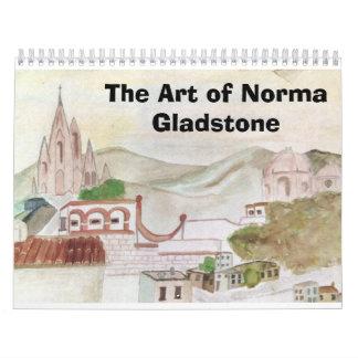 El arte de Norma Gladstone Calendario De Pared