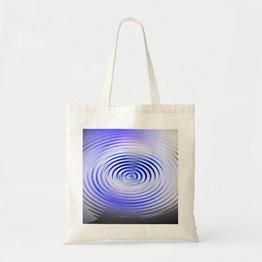 El arte de ondulaciones bolsa tela barata