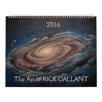 El arte de Rick galante Calendarios