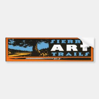 El arte de Sierra arrastra Bumpersticker Pegatina Para Auto