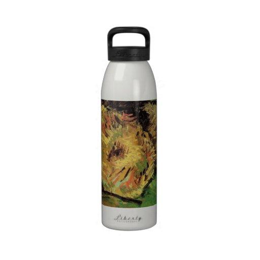 El arte de Van Gogh, dos cortó los girasoles, Botella De Agua Reutilizable