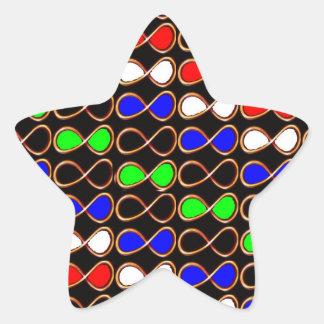 El arte decorativo del INFINITO para toda la Pegatina En Forma De Estrella