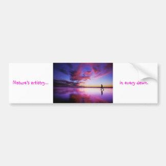 El arte del amanecer por tdgallery pegatina de parachoque