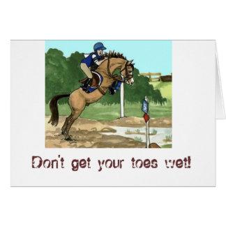 """El arte del caballo del ante """"no consigue los dedo tarjeta de felicitación"""