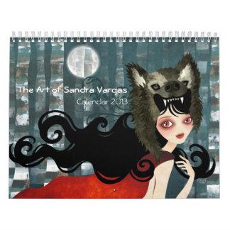 El arte del calendario 2013 de Sandra Vargas