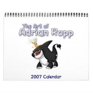 El arte del calendario de Adrian Ropp 2007