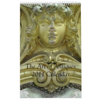 El arte del calendario de las antigüedades 2015