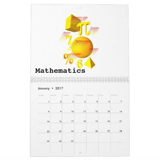 El arte del calendario de las matemáticas