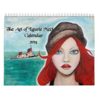 El arte del calendario de Laurie McClave 2014