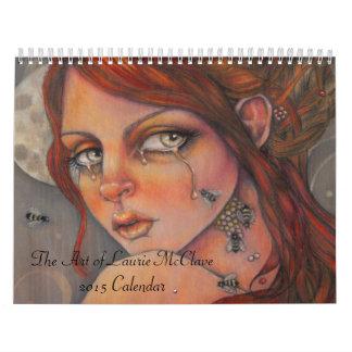 El arte del calendario de Laurie McClave 2015