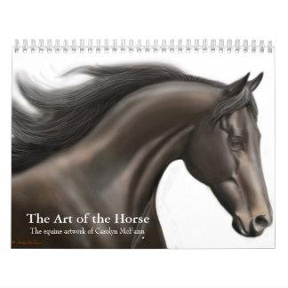 El arte del calendario del caballo